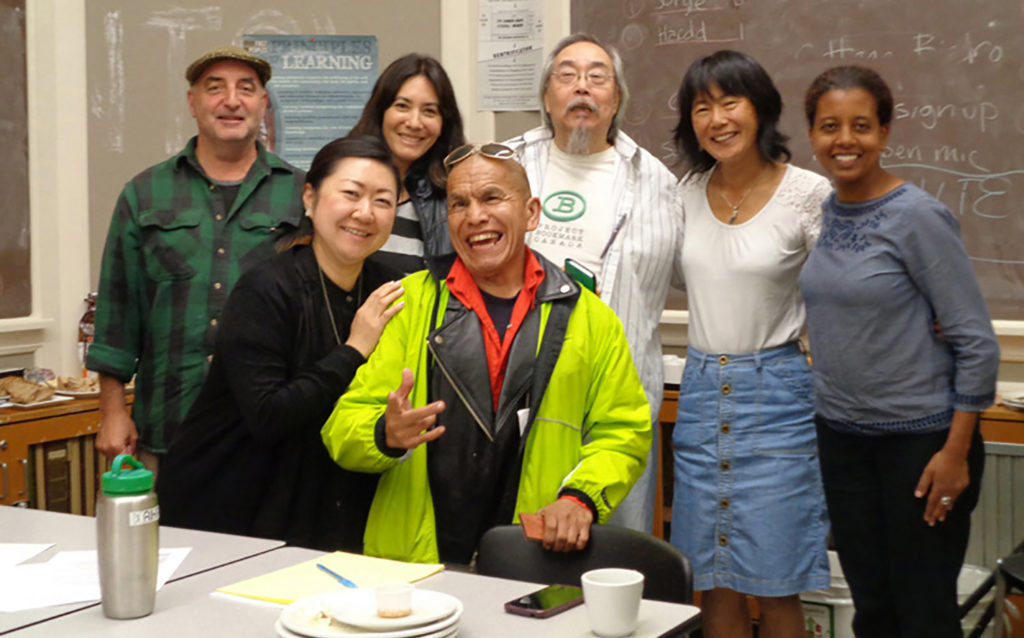 2016 Committee: Bruce Walther, Kazuho (Kay) Yamamoto (Program Coordinator), Carolyn Wong, Stephen Lytton, Sid Chow Tan, Rika Uto (Arts and Education Programmer), Meseret Taye (Manager, Grants and Community Initiatives)