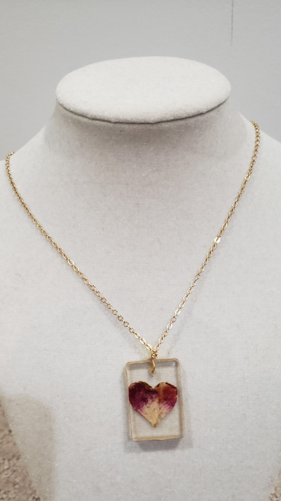 Rose Petal Necklace (Resin)