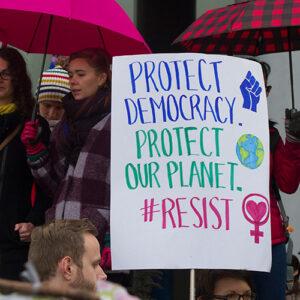 Roberta Sciarretta feature image, photo of Project Democracy poster